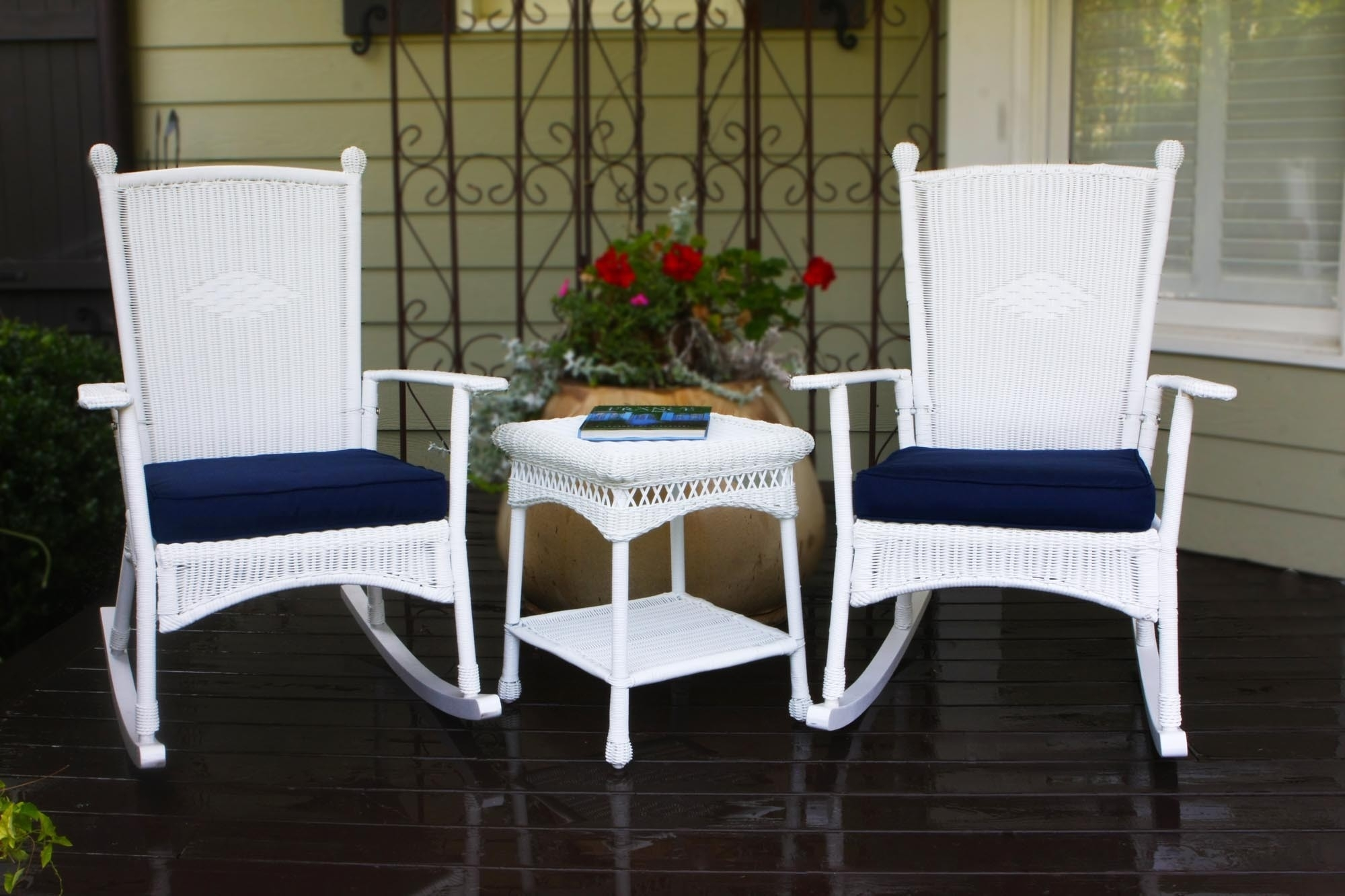 Inspiration about Top White Wicker Rocking Chair — Wilson Home Ideas : Choosing A Inside White Wicker Rocking Chairs (#10 of 15)
