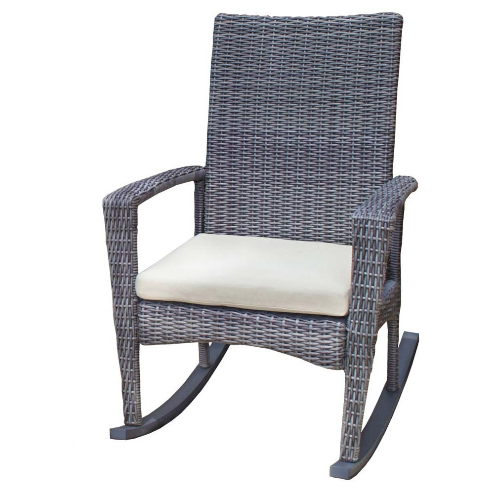 Tortuga Outdoor Bayview Rocking Chair – Wicker Regarding Wicker Rocking Chairs For Outdoors (View 8 of 15)