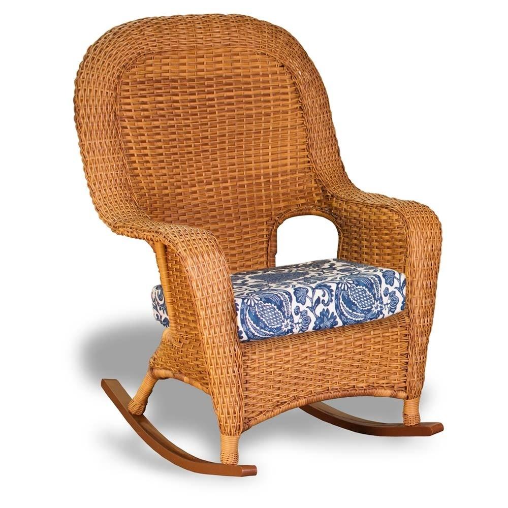 Inspiration about Tortuga Outdoor Lexington Wicker Rocker – Wicker Regarding Wicker Rocking Chairs Sets (#9 of 15)