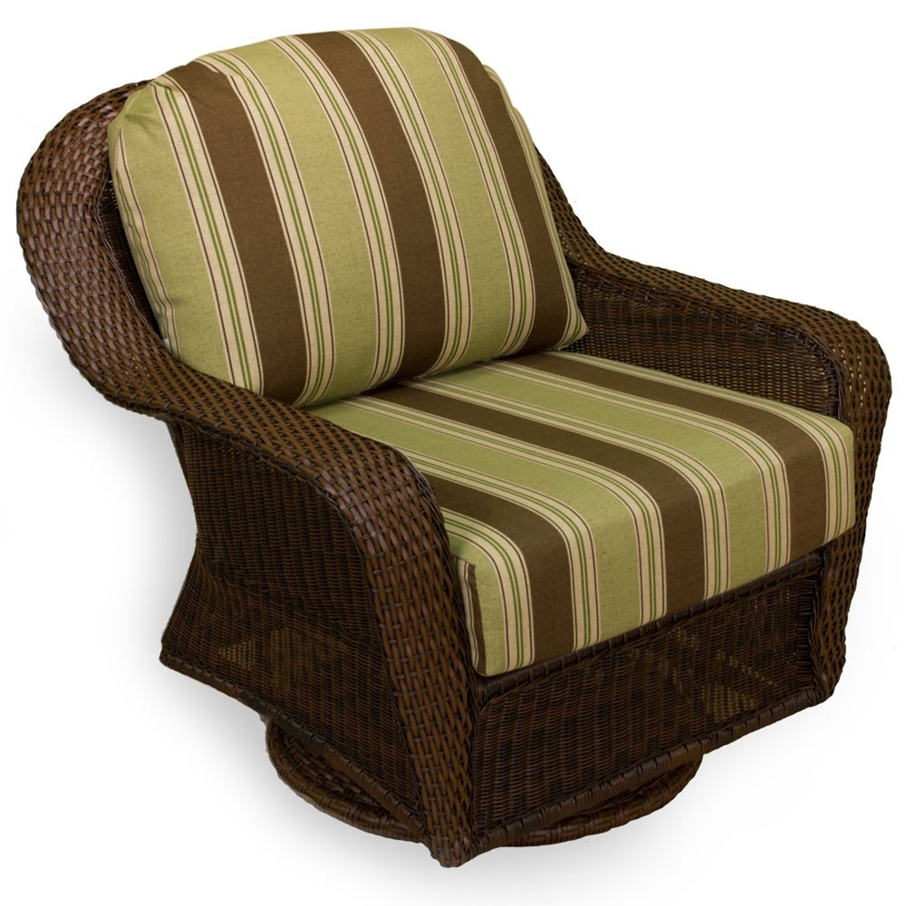 Tortuga Outdoor Lexington Wicker Swivel Glider – Wicker For Patio Rocking Chairs And Gliders (#14 of 15)