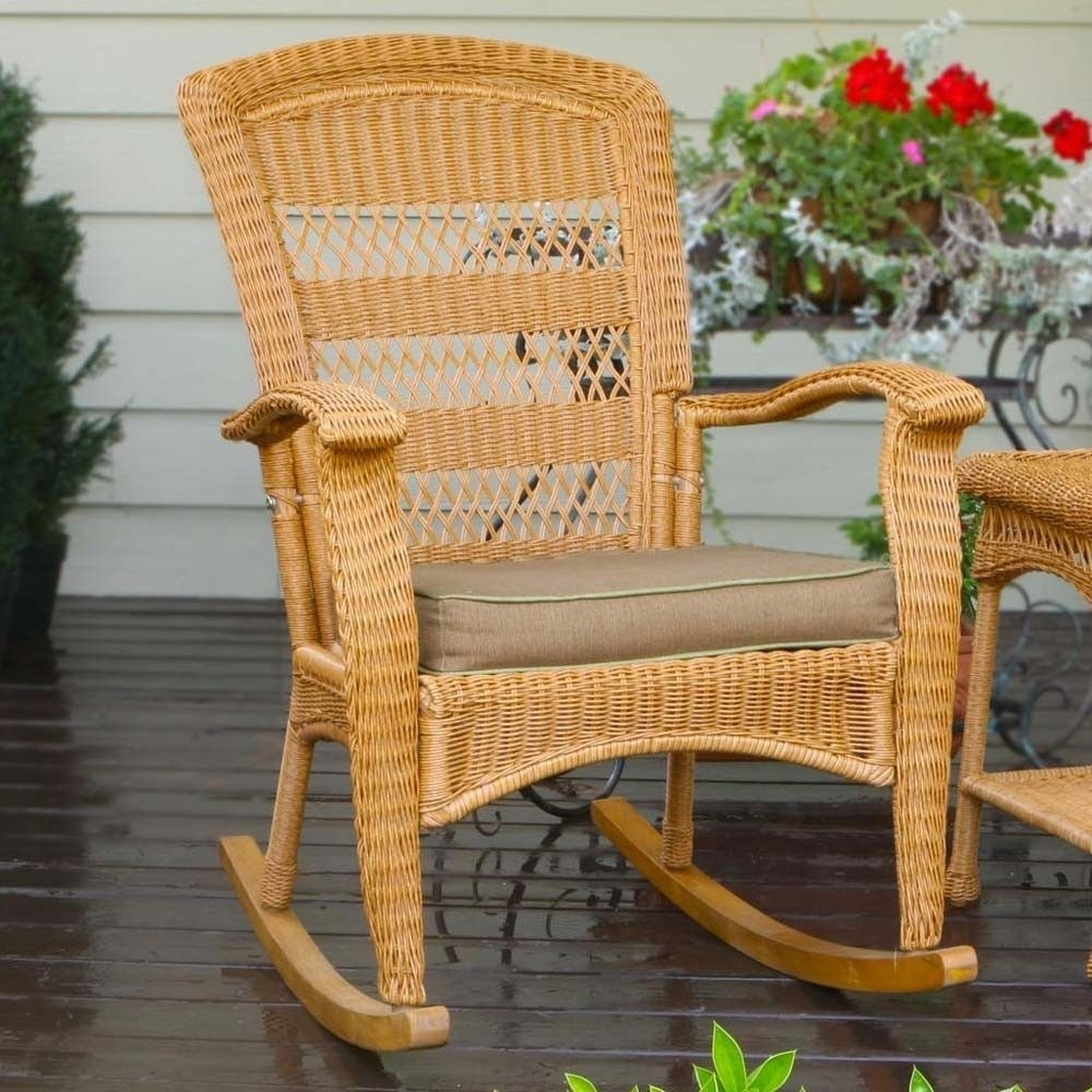 Inspiration about Tortuga Outdoor Plantation Wicker Rocking Chair | Wicker And Wrought In Wicker Rocking Chairs Sets (#13 of 15)
