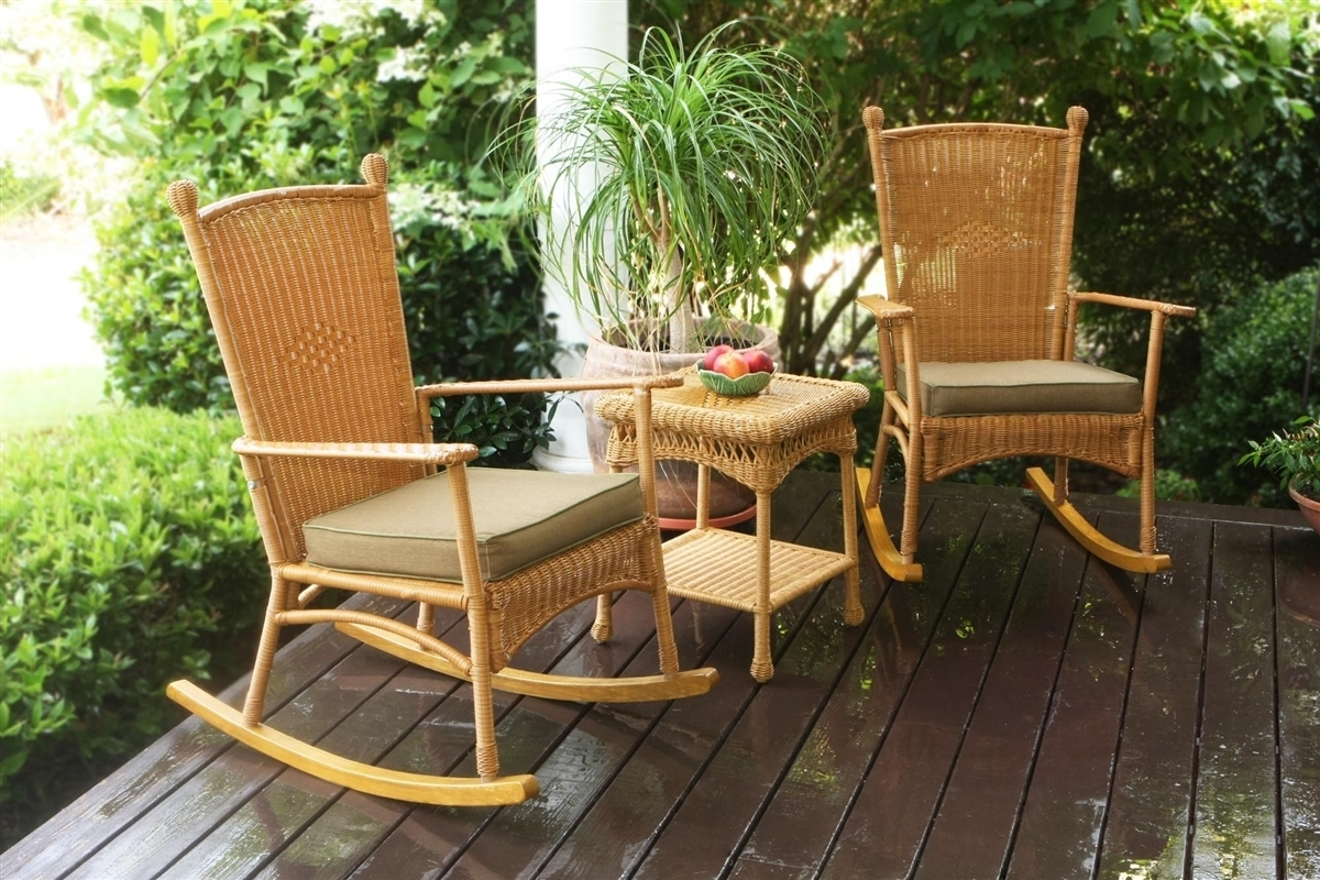 Inspiration about Tortuga Outdoor Portside Classic 3Pc Rocking Chair Set – Southwest Regarding Wicker Rocking Chairs Sets (#6 of 15)