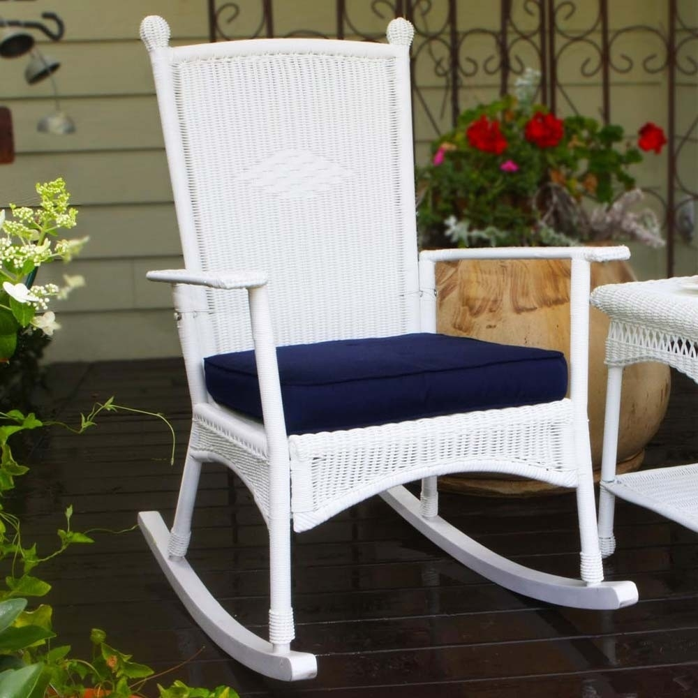 Inspiration about Tortuga Outdoor Portside Classic Wicker Rocking Chair – Wicker Intended For White Wicker Rocking Chairs (#8 of 15)