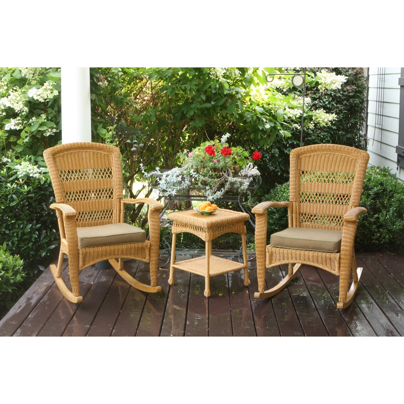 Inspiration about Tortuga Outdoor Portside Plantation 3 Pc. Rocker Set | Hayneedle With Regard To Resin Wicker Patio Rocking Chairs (#9 of 15)