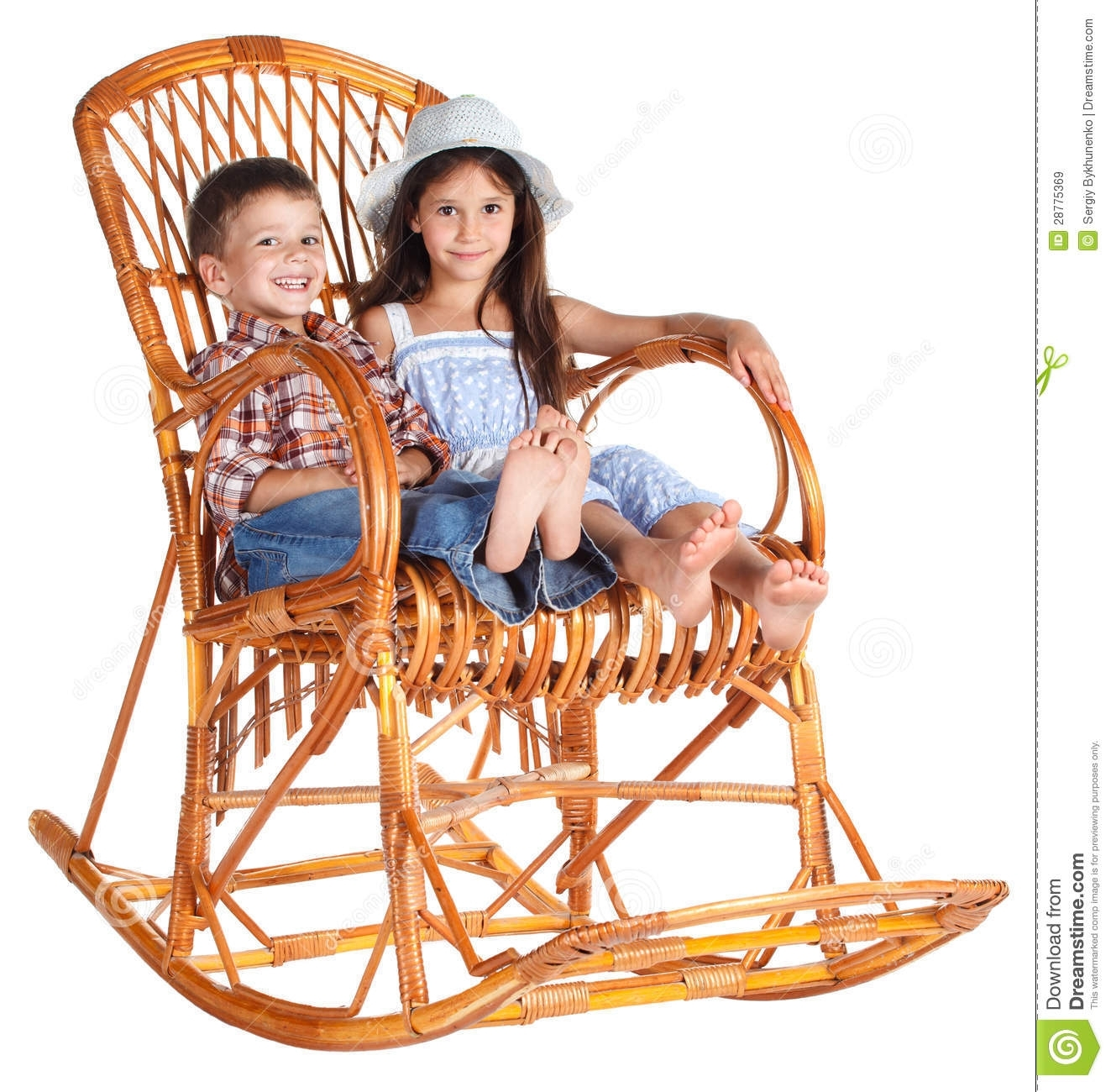 Inspiration about Two Kids Sitting In The Rocking Chair Stock Image – Image Of Pair Intended For Xl Rocking Chairs (#4 of 15)