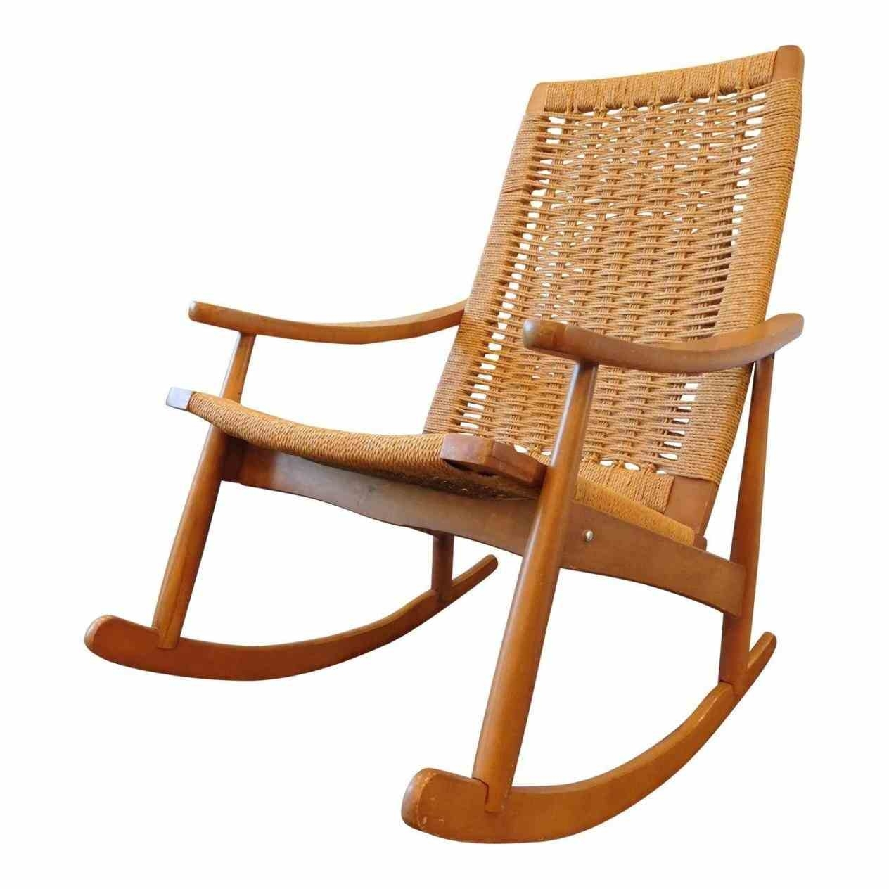 Used Mission Rocking Chairs Chairish Yugoslavian Hans Wegner Style Regarding Old Fashioned Rocking Chairs (#14 of 15)