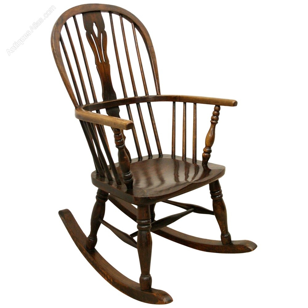 Victorian Windsor Rocking Chair – Antiques Atlas Within Victorian Rocking Chairs (View 3 of 15)