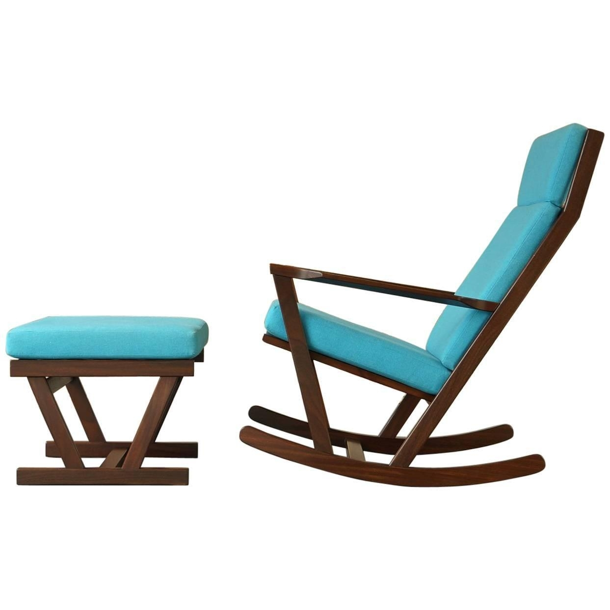 Vintage Rocking Chairpoul Volther For Frem Rojle In Afromosia Throughout Retro Rocking Chairs (View 12 of 15)