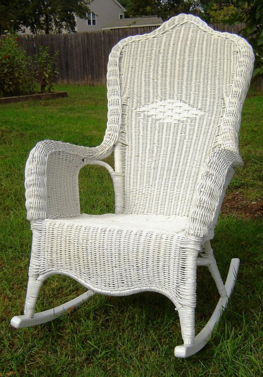 Popular Photo of Vintage Wicker Rocking Chairs