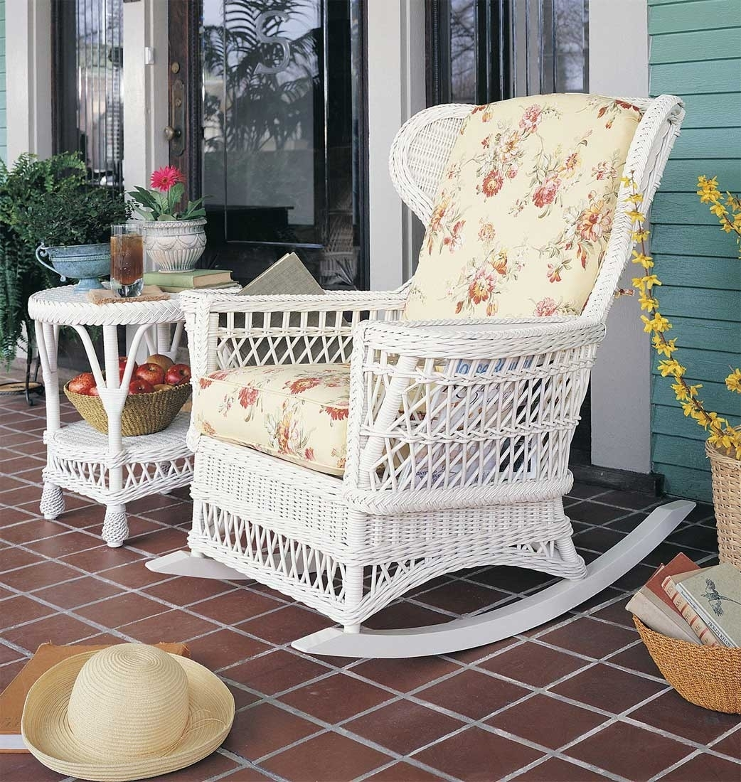 Inspiration about Vintage Wicker Rocking Chair With Regard To White Wicker Rocking Chairs (#3 of 15)
