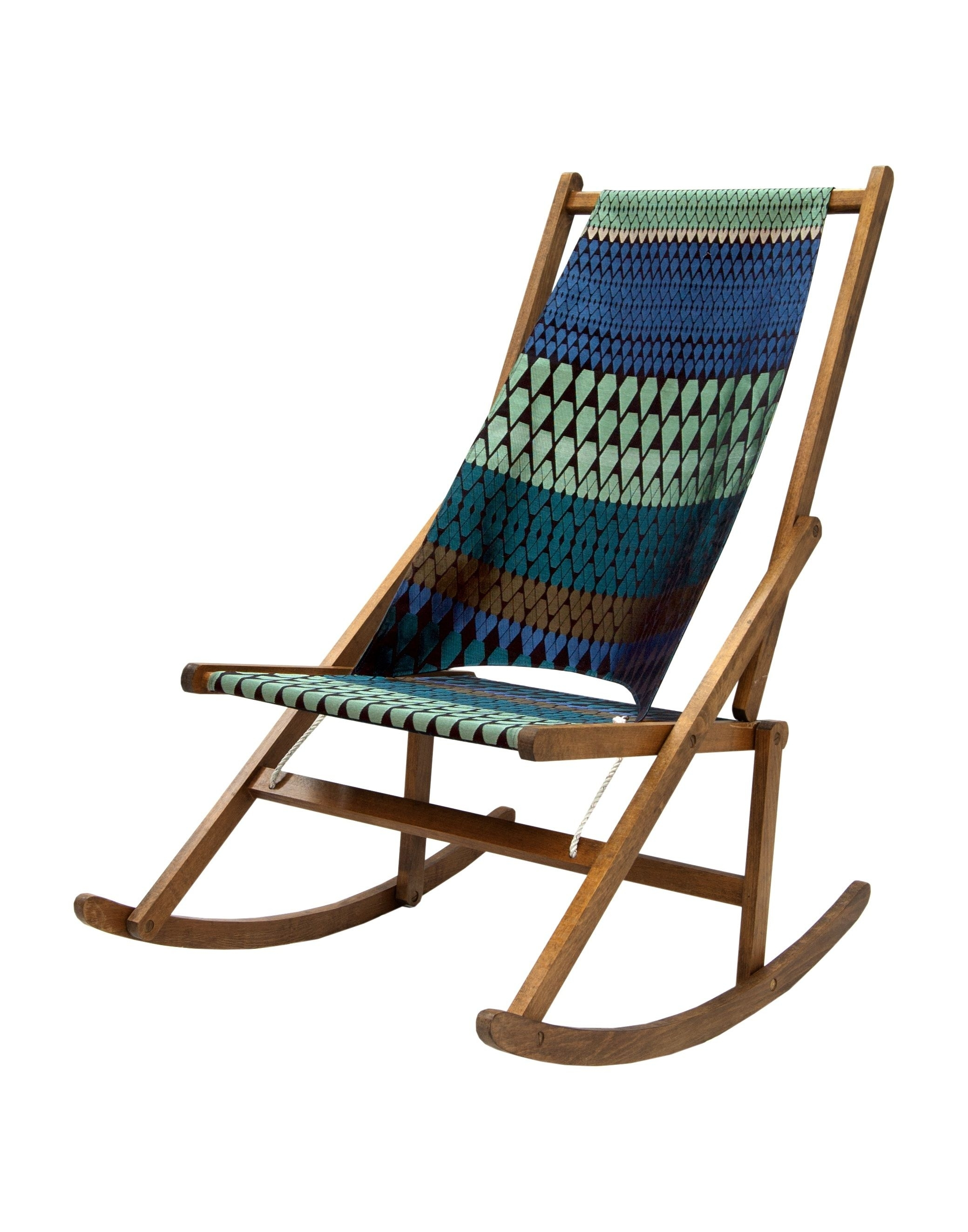 Want One!!!! Folding Rocking Chair Madewawa Upholstered In Margo Inside Folding Rocking Chairs (#14 of 15)