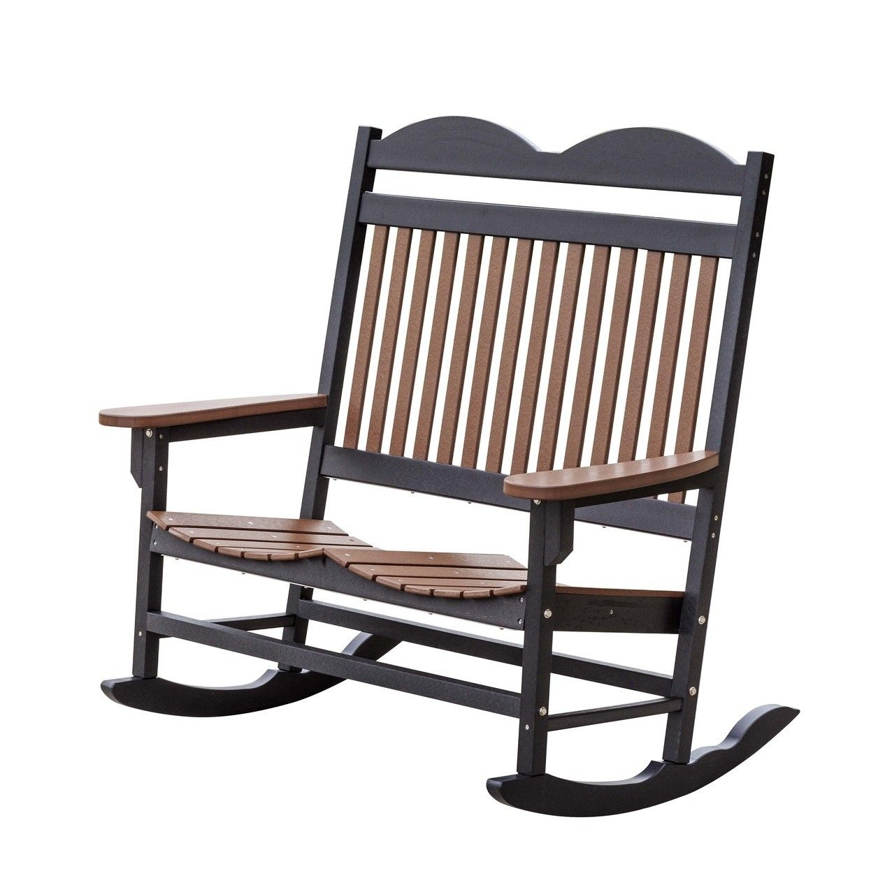 Weather Resistant Outdoor Double Rocker | Rocking Chairs Throughout Old Fashioned Rocking Chairs (#15 of 15)
