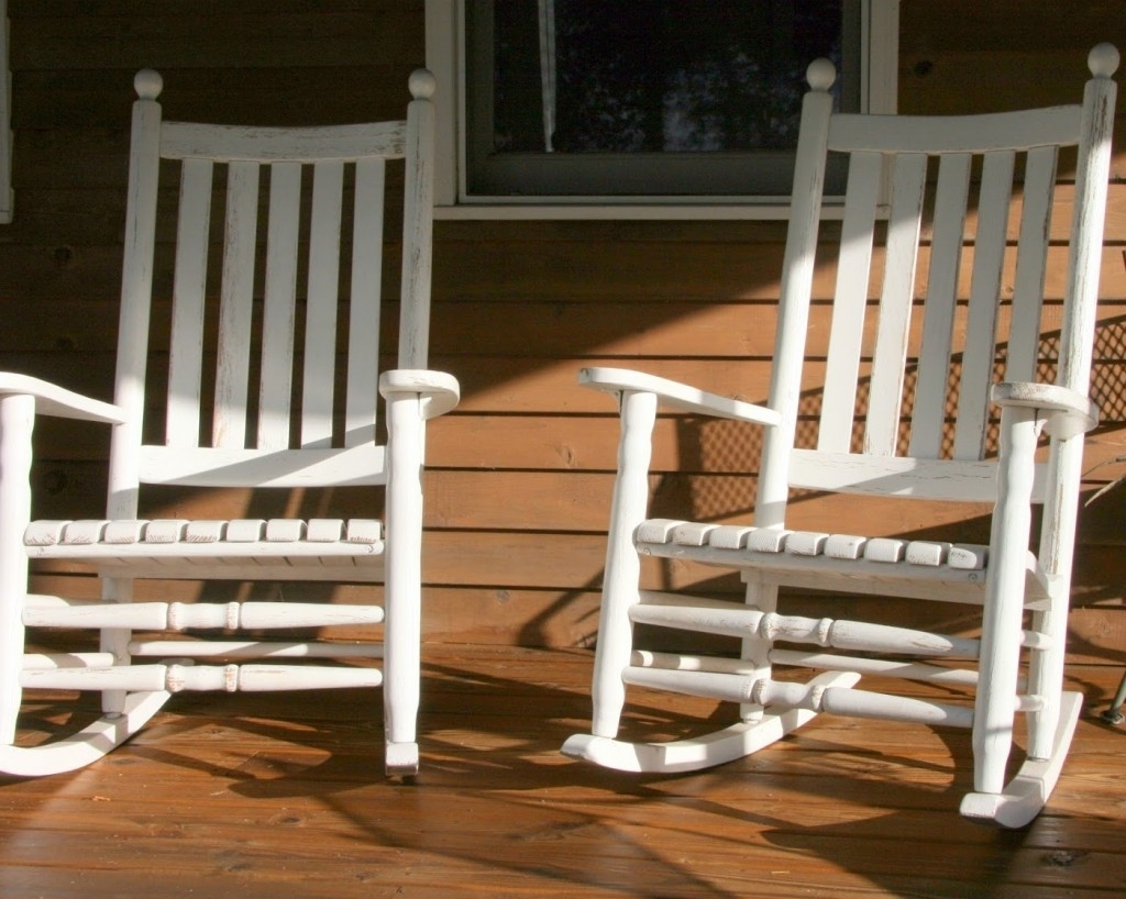 Inspiration about White Front Porch Rocking Chairs — Front Porch Light : Simplest With Rocking Chairs For Front Porch (#12 of 15)