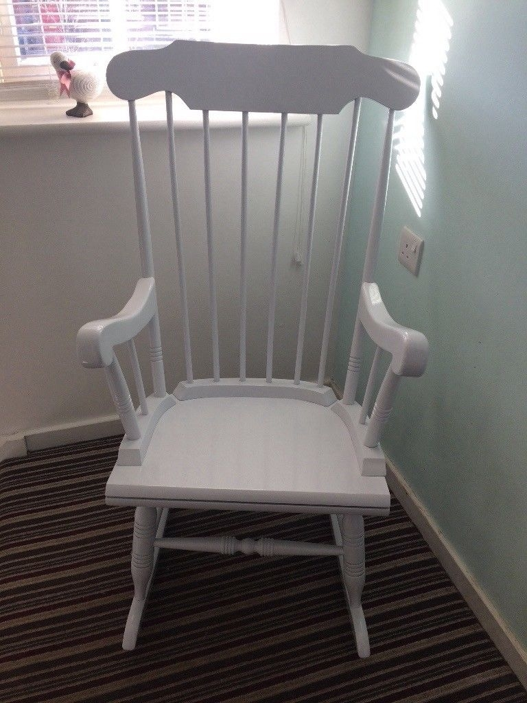 Inspiration about White Rocking Chair | In Fleet, Hampshire | Gumtree Inside Rocking Chairs At Gumtree (#10 of 15)
