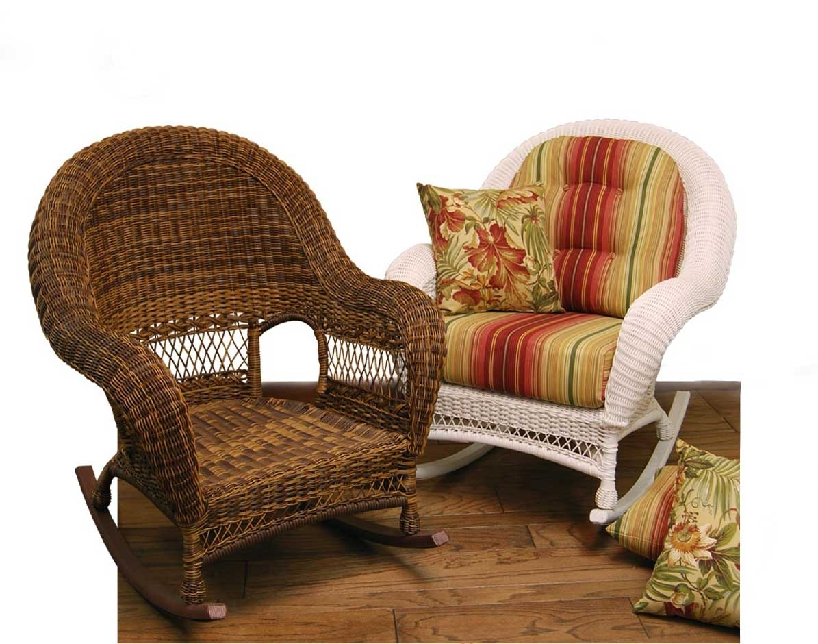 Inspiration about Wicker Domain Deep Seat Rocking Chair W/ Cushions Inside Wicker Rocking Chairs With Cushions (#15 of 15)