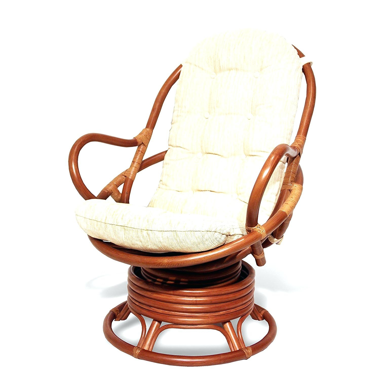 Inspiration about Wicker Rocking Chair Cushion Set Ebay Antique Outdoor Recliner Pertaining To Wicker Rocking Chairs With Cushions (#4 of 15)