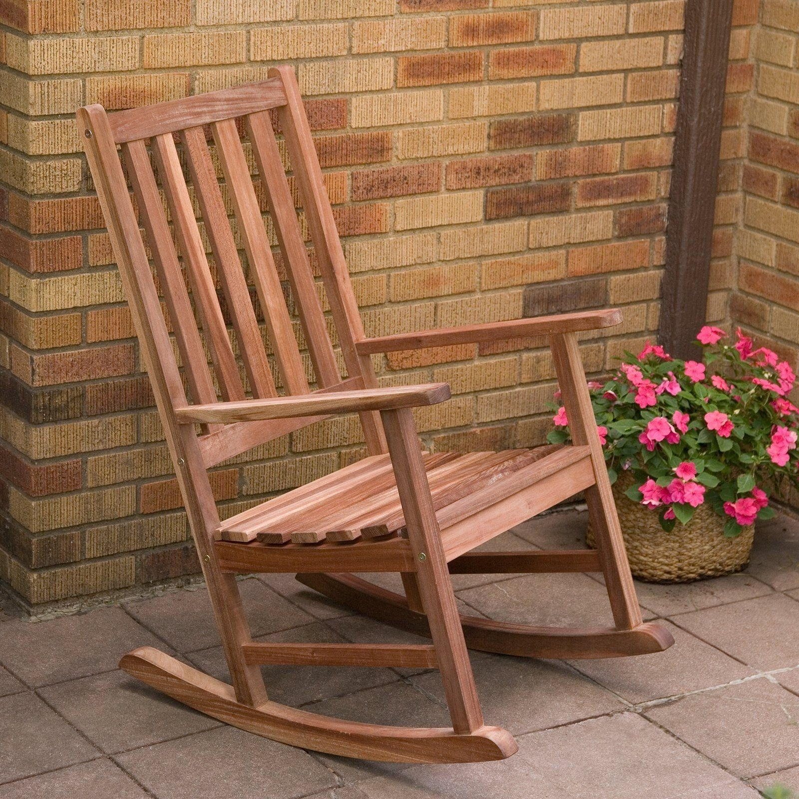 Wood Patio Rocking Chairs Lovely Have To Have It Richmond Heavy Duty Intended For Brown Patio Rocking Chairs (View 15 of 15)