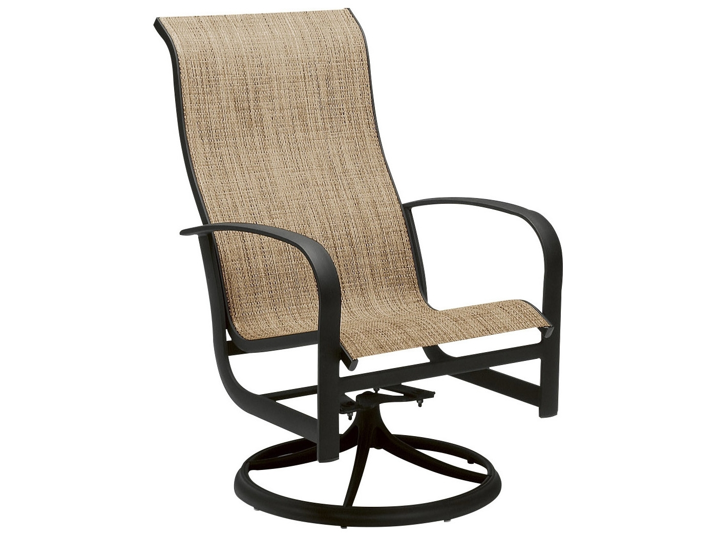 Woodard Fremont Sling Aluminum High Back Swivel Rocker P Patio Pertaining To Aluminum Patio Rocking Chairs (View 15 of 15)