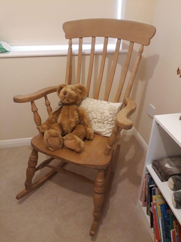 Inspiration about Wooden Rocking Chair | In Bradley Stoke, Bristol | Gumtree With Rocking Chairs At Gumtree (#6 of 15)