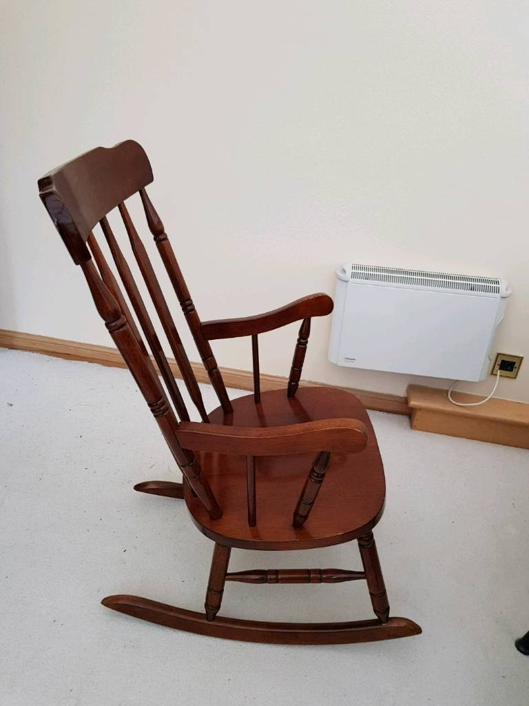 Wooden Rocking Chair | In Colinton, Edinburgh | Gumtree Pertaining To Rocking Chairs At Gumtree (View 15 of 15)