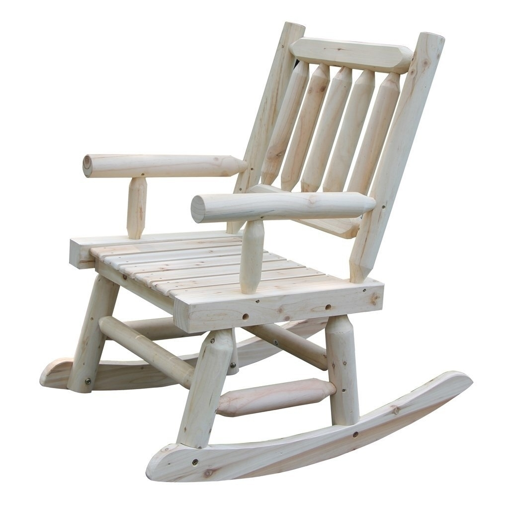 Wooden Rocking Chair With Natural Material Comfortable Oversized Inside Oversized Patio Rocking Chairs (#15 of 15)
