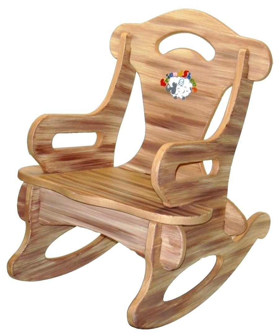 Wooden Rocking Chairs Wood Chair For Toddlers Walmart Personalized Pertaining To Rocking Chairs For Toddlers (View 15 of 15)