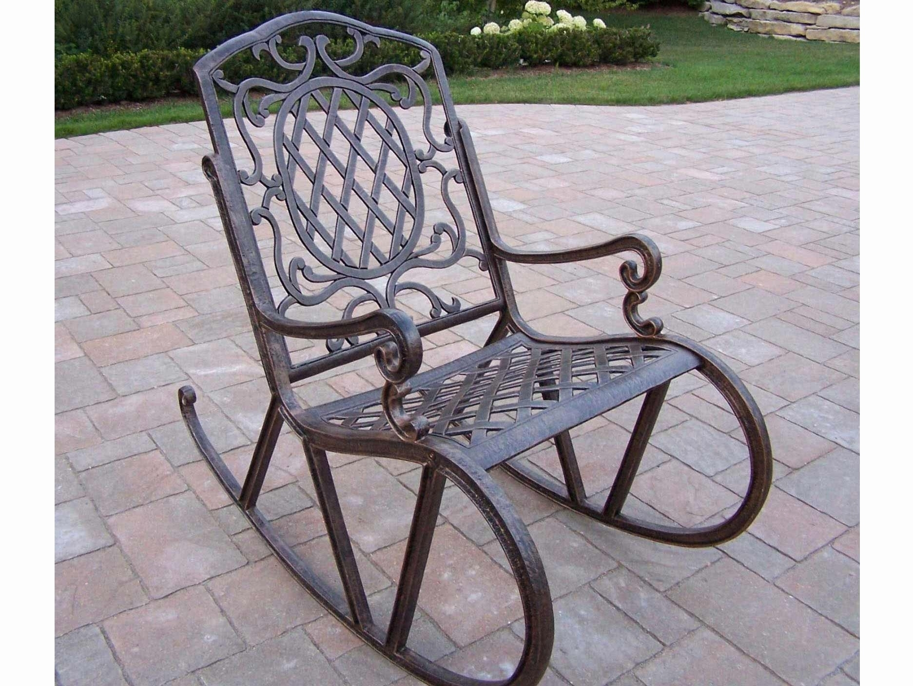 Wrought Iron Patio Furniture Rocking Chairs Ideas Antique Vintage Throughout Iron Rocking Patio Chairs (View 7 of 15)
