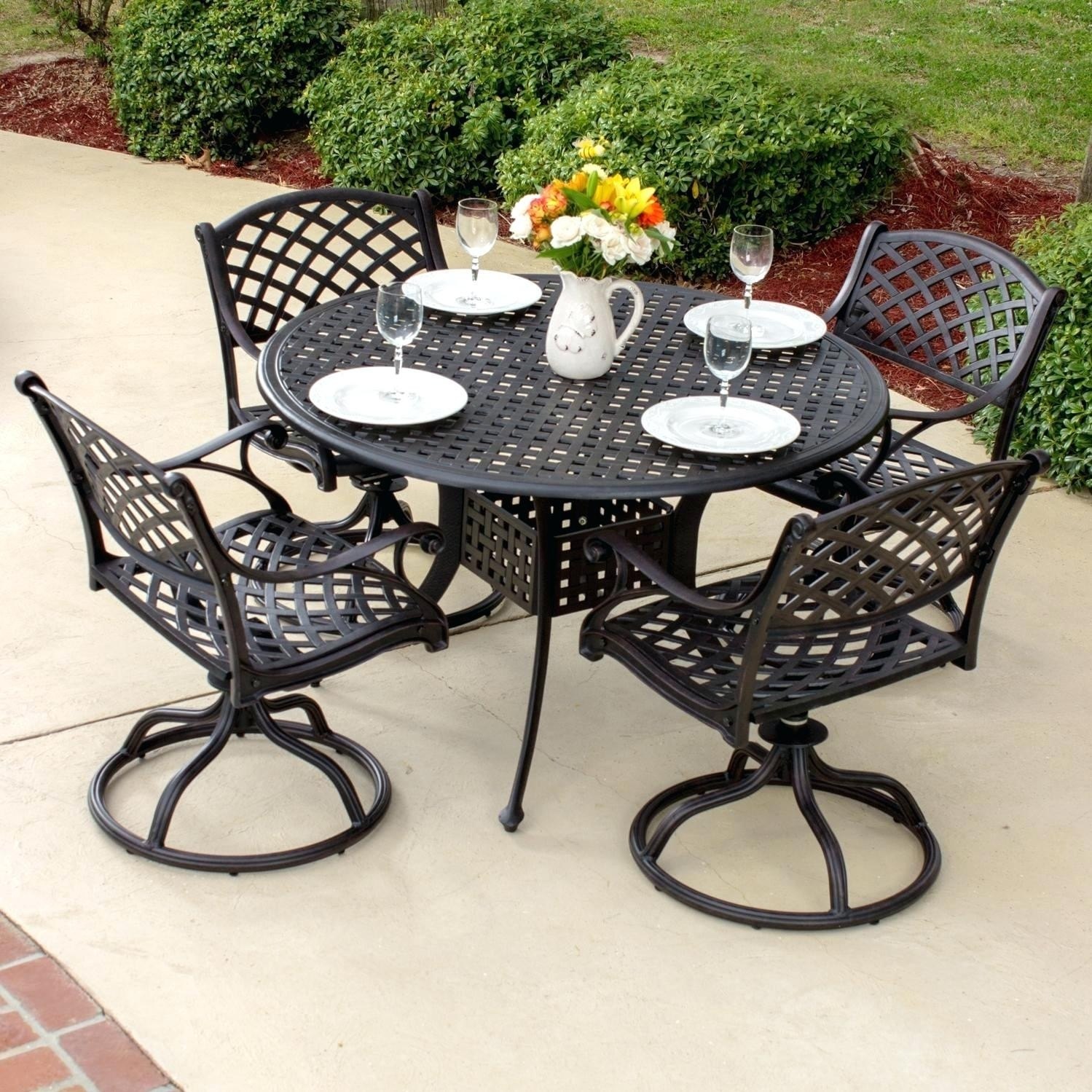 Wrought Iron Patio Furniture South Africa Intended For Wrought Iron Patio Rocking Chairs (View 14 of 15)