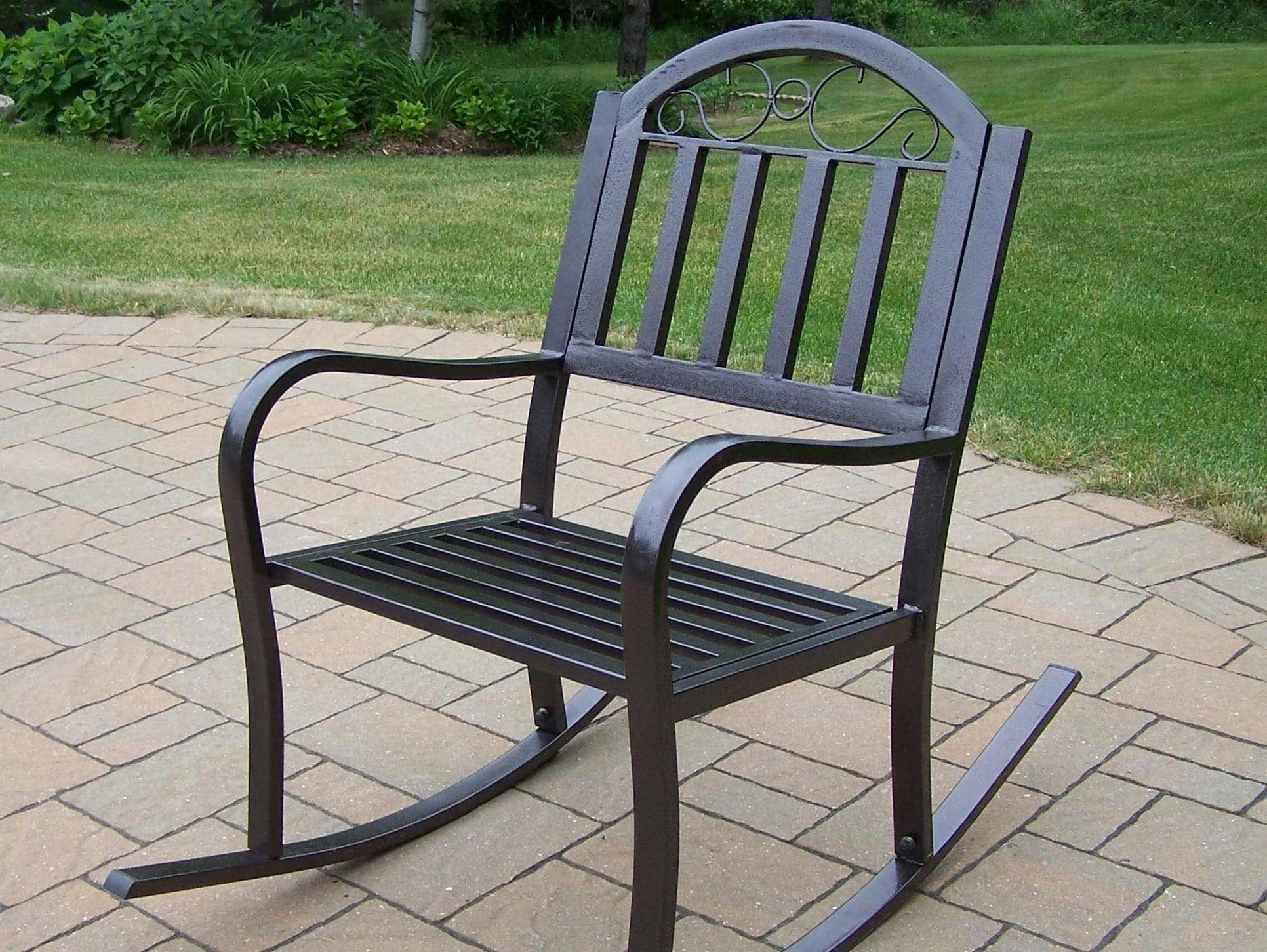 Inspiration about Wrought Iron Patio Rocker Chairs Icamblog Black Rocking Chair For Regarding Patio Metal Rocking Chairs (#9 of 15)
