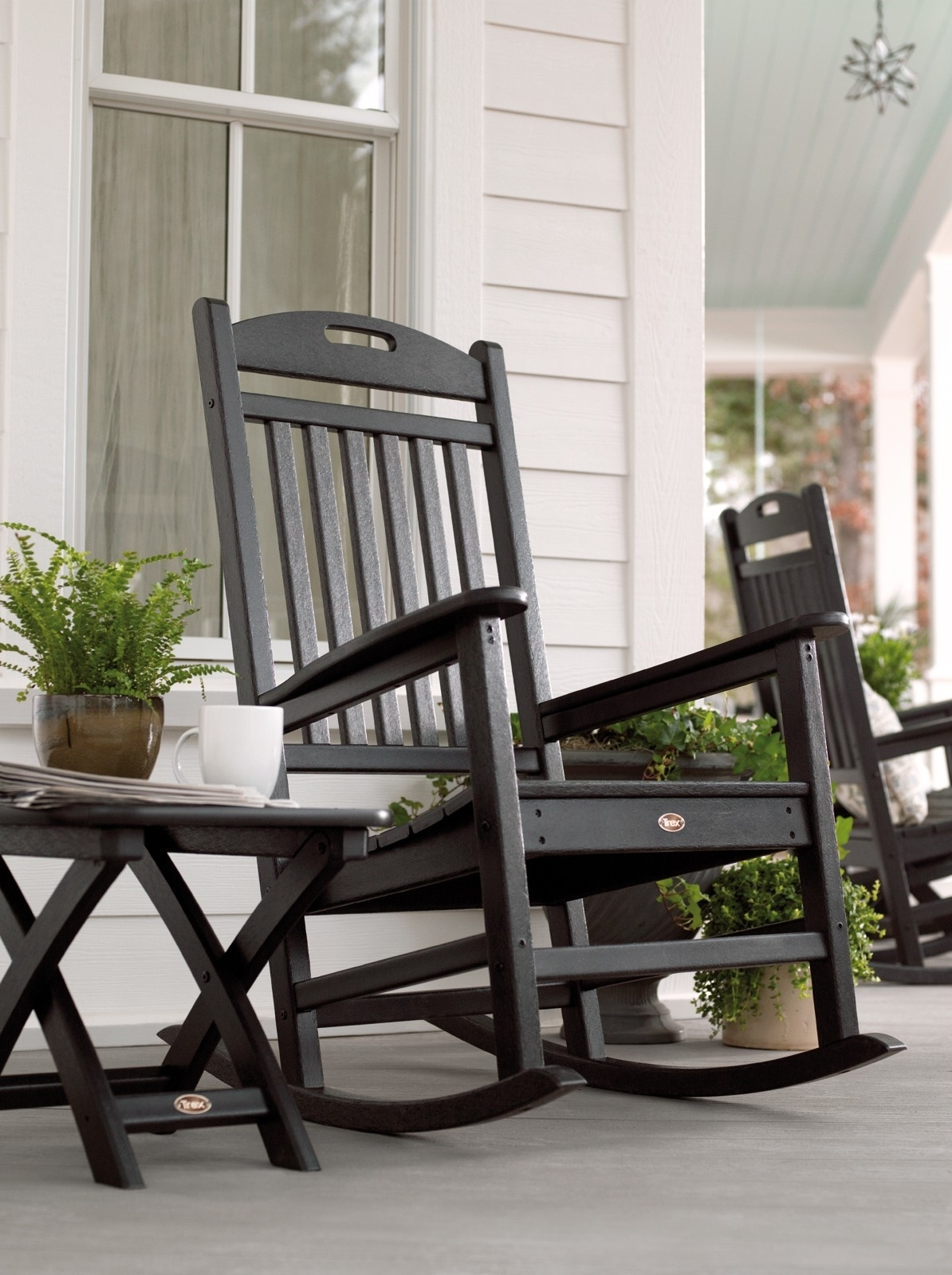 Popular Photo of Outdoor Rocking Chairs With Table
