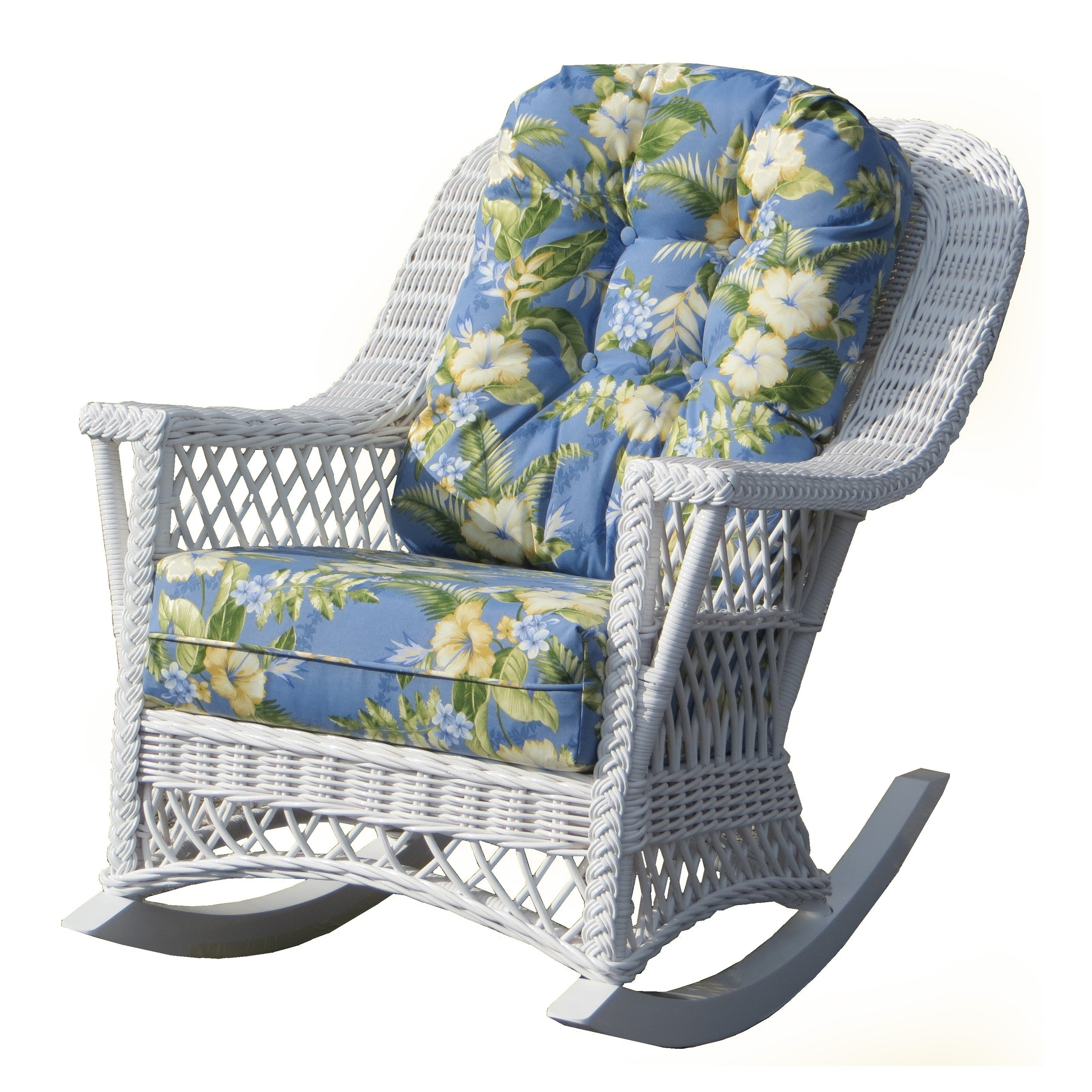 Yesteryear Wicker Childs Wicker Rocking Chair With Cushion | Hayneedle With Wicker Rocking Chairs With Cushions (#15 of 15)