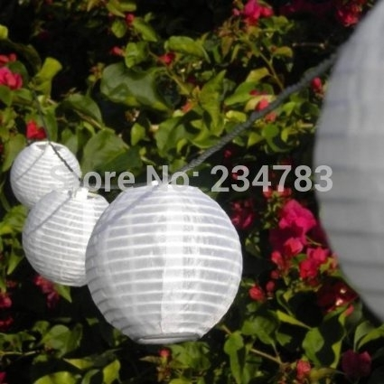 Inspiration about 10 Chinese Lanterns Solar String Light White Outdoor Christmas Fairy Within Outdoor Chinese Lanterns For Patio (#14 of 15)