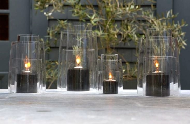 Inspiration about 10 Easy Pieces: Glass Hurricane Lanterns, From High To Low – Gardenista Inside Outdoor Glass Lanterns (#1 of 15)