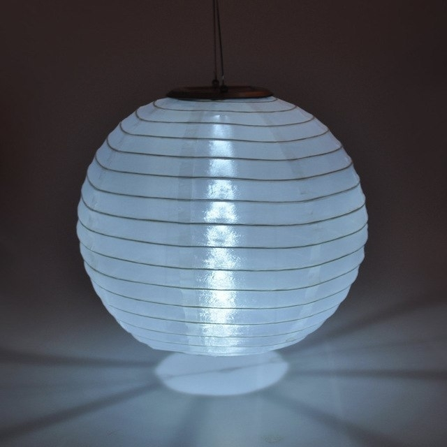 "Inspiration about 10"" Free Shipping Solar Powered Chinese Round Lanterns Light Outdoor In Outdoor Round Lanterns (#7 of 15)"