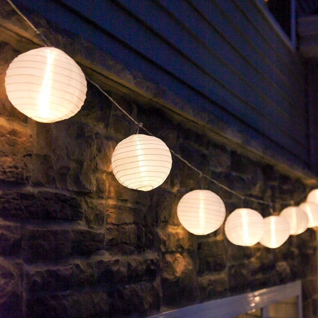 Inspiration about 10 Ft. White Outdoor String Light Mini Lanterns 1 Plugin Strand With Regard To Plug In Outdoor Lanterns (#9 of 15)