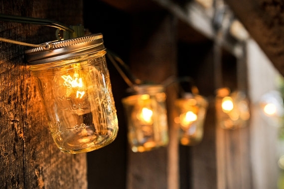 10 Ideas For Outdoor Mason Jar Lights To Add A Romantic Glow To Your With Outdoor Rope Lanterns (#1 of 15)