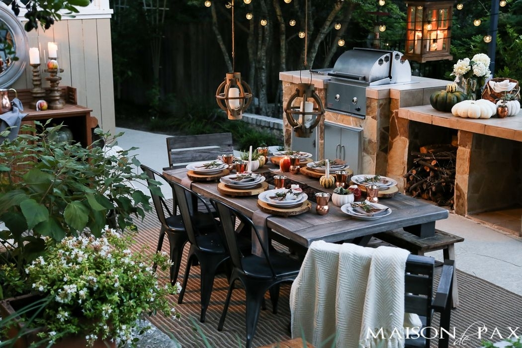 10 Steps To A Magical Outdoor Dining Table | Outdoor Ideas Inside Outdoor Dining Lanterns (View 4 of 15)