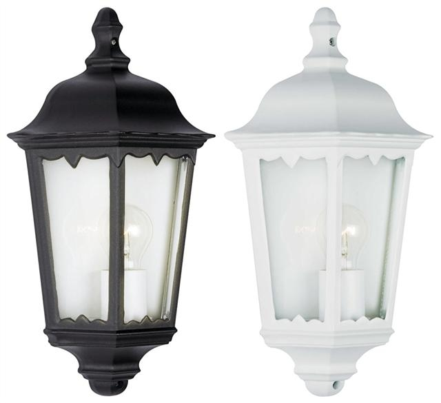 10w Led Outdoor Exterior 3 Sided Half Wall Lantern Black Or White Throughout Black Outdoor Lanterns (View 14 of 15)