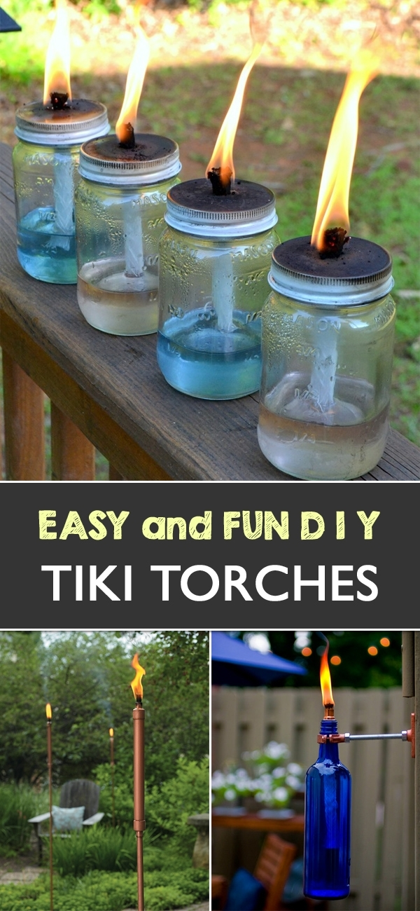11 Diy Tiki Torches To Light Up Your Outdoor Garden Spaces In Outdoor Tiki Lanterns (View 10 of 15)