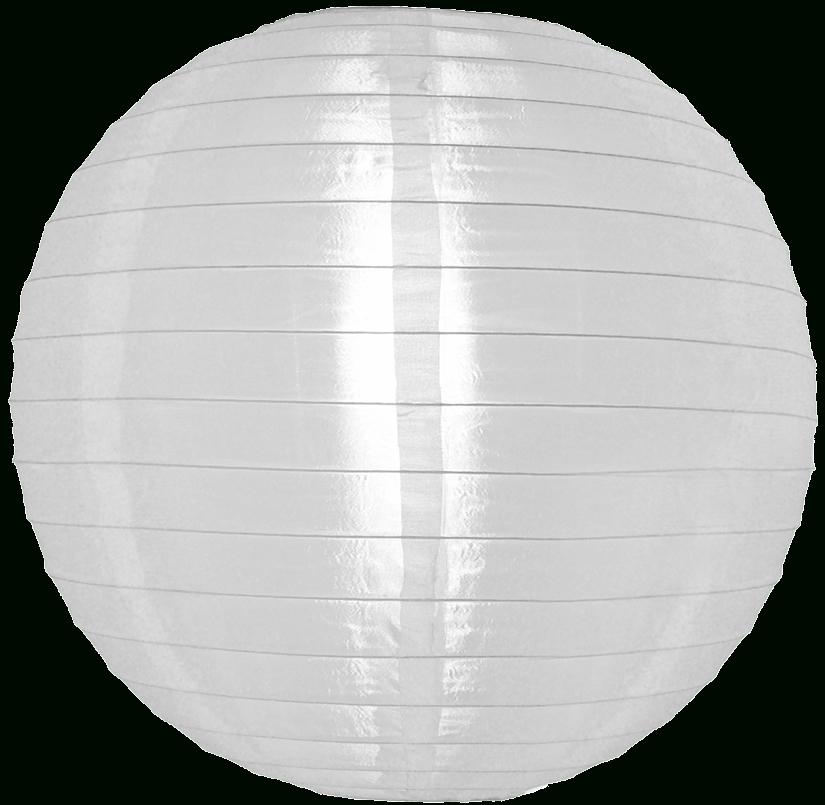 12 Inch White Nylon Round Lanterns Pertaining To Outdoor Round Lanterns (View 2 of 15)