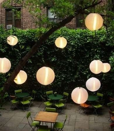 14 Bright Ideas For Lighting Your Backyard | More ❤loves In Outdoor Japanese Lanterns (View 4 of 15)