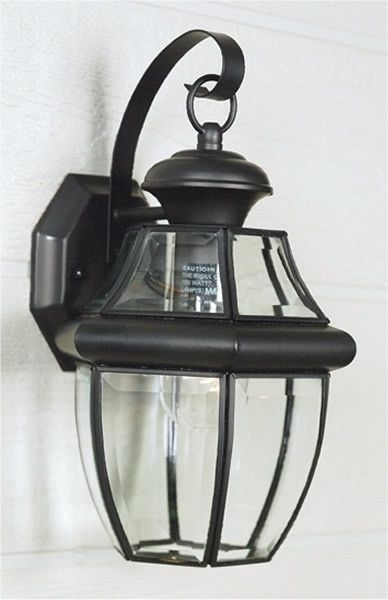 "14""h Newbury Weather Resistant Small Outdoor Wall Lantern Mystic With Outdoor Weather Resistant Lanterns (#1 of 15)"