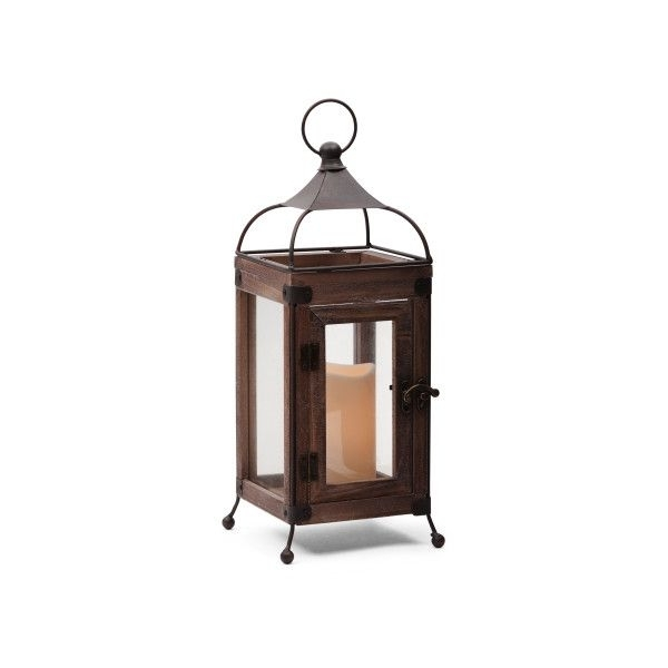Inspiration about 14In Led Wood Metal Lantern ($25) ❤ Liked On Polyvore Featuring Within Outdoor Lanterns With Battery Candles (#9 of 15)