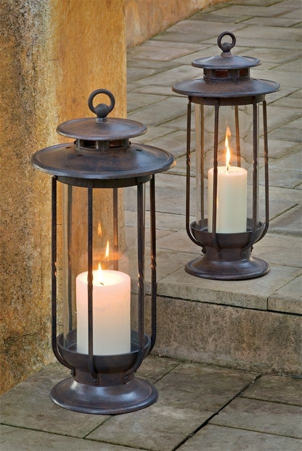 16 Outdoor Hurricane Lamps, Outdoor Candles Garden Lanterns Storm With Outdoor Storm Lanterns (#7 of 15)