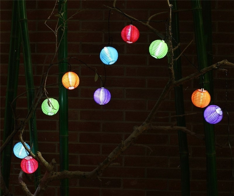 Inspiration about 1X Solar Powered Led String Light 4M 10 Colorful Chinese Lanterns Within Colorful Outdoor Lanterns (#8 of 15)