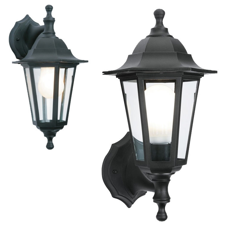 2 In 1 Black Rustproof Traditional Coach House Wall Garden Outside Regarding Rust Proof Outdoor Lanterns (View 11 of 15)