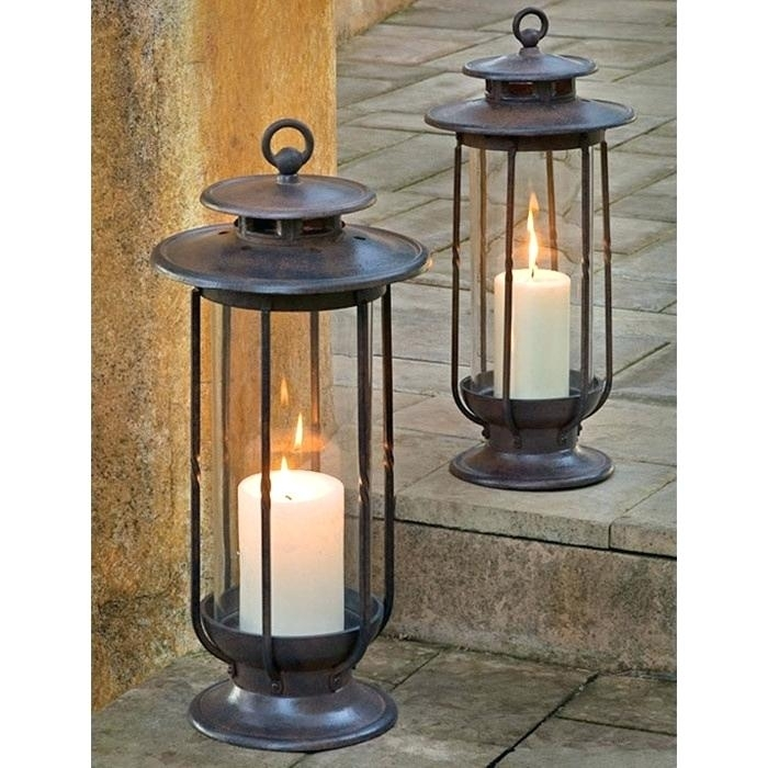2 Piece Indoor Outdoor Lantern Set For The Home Ideas And Lights In Set Of 3 Outdoor Lanterns (View 15 of 15)