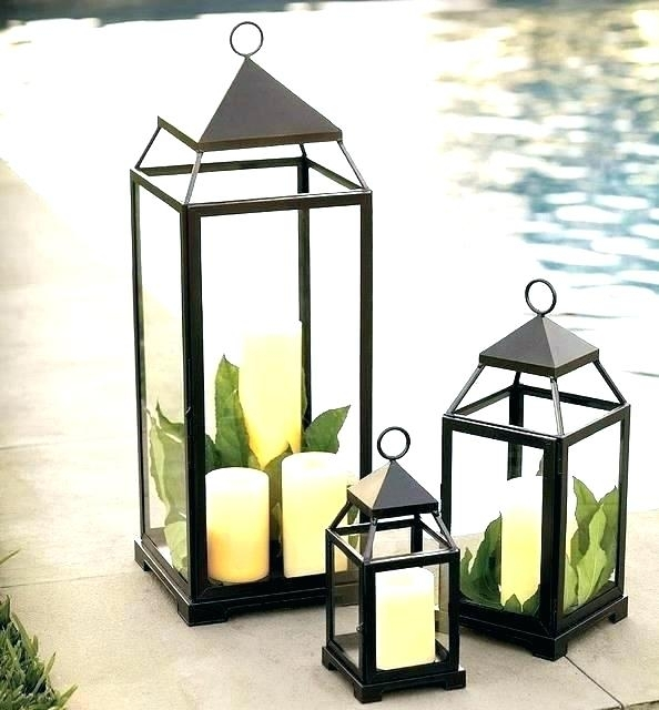 Inspiration about 2 Piece Metal Lantern Set Outdoor Wall Lighting Sets – Thestark.co In Metal Outdoor Lanterns (#3 of 15)