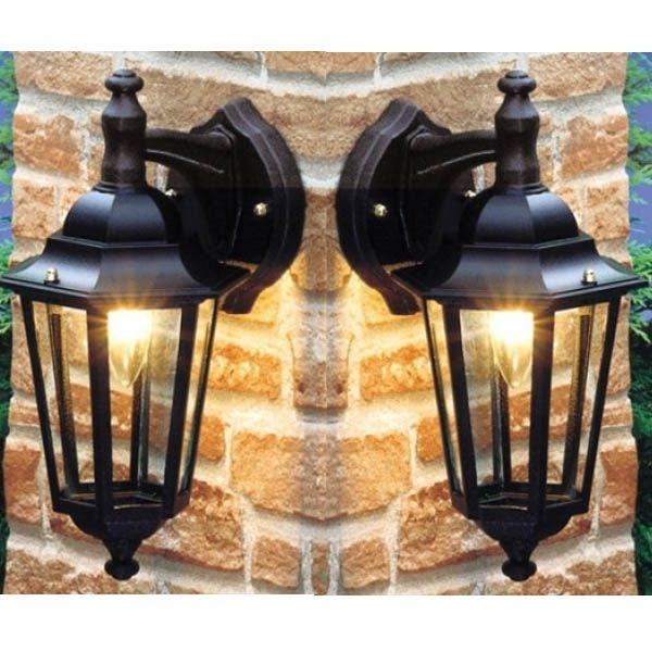 Inspiration about 2 X Nartel Mains Outdoor Suspended Wall Lantern Light Vintage 5661 In Outdoor Mains Lanterns (#8 of 15)