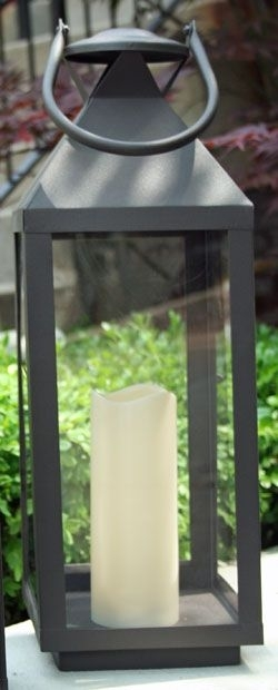 20 Inch Extra Large Outdoor Lantern – 5 Hr Timer Led Candle | Garden Pertaining To Extra Large Outdoor Lanterns (#1 of 15)